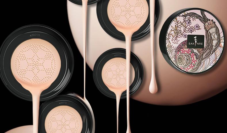 正品莎琪丽小蘑菇气垫bb霜(送替换装)保湿遮瑕定妆裸妆持久粉底液