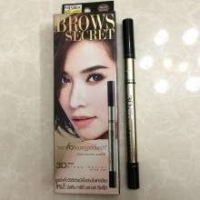 泰国正品Mistine创新彩妆3D眉笔+染眉定型膏+眉粉