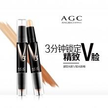 正品AGC修容棒 秒变V脸 双头高光侧影 提亮修颜 脸部鼻梁阴影笔